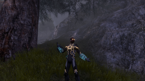 My Dragon shows off his new Panoptic Core outfit in The Secret World