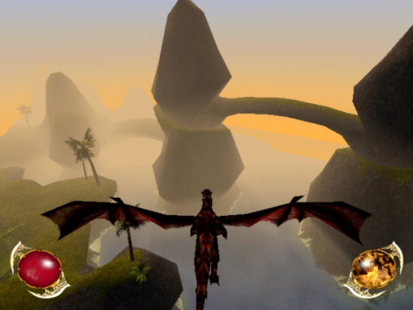 A screenshot from Drakan: Order of the Flame