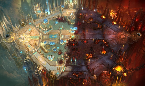 Concept art for a Diablo-themed map for Heroes of the Storm