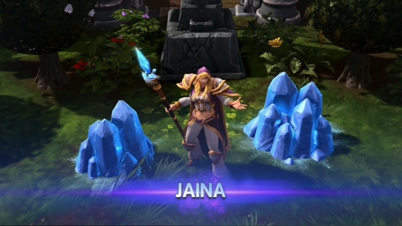 A screenshot of Jaina Proudmoore in Heroes of the Storm