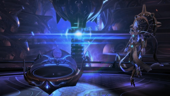 Preserver Rohana aboard the Spear of Adun in StarCraft II: Legacy of the Void