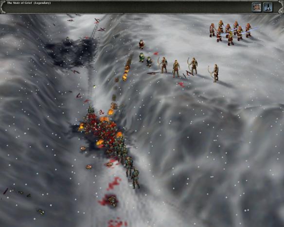 A screenshot from Myth II: Soulblighter