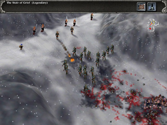 A screenshot from the mission Stair of Grief in Myth II: Soulblighter