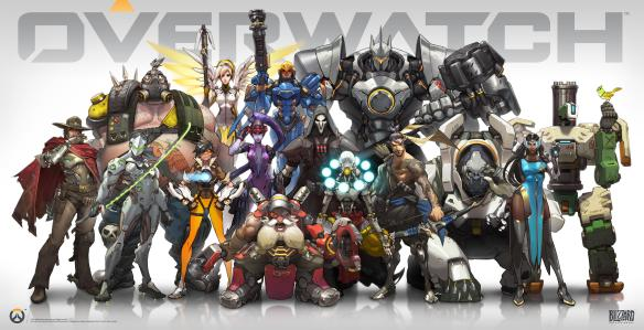 Art of the cast of Overwatch