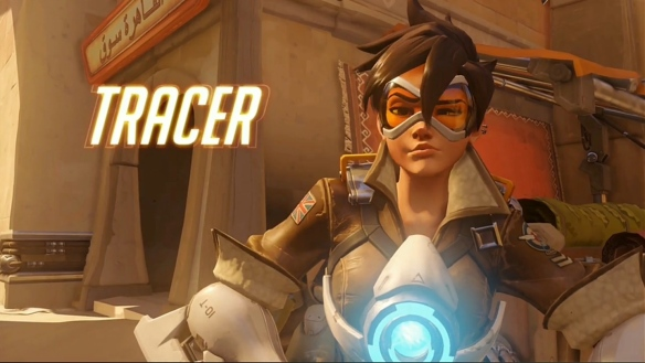 Tracer, a playable character in Blizzard's new Overwatch shooter