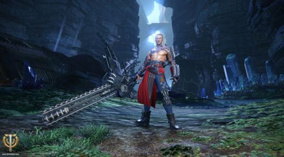 A screenshot of the berserker class in Skyforge