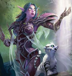 Art of Tyrande Whisperwind from the World of Warcraft trading card game