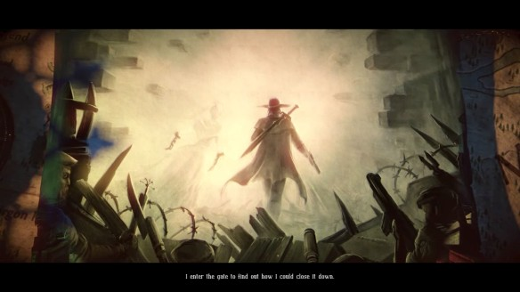 A cutscene from the Ink Hunt DLC for The Incredible Adventures of Van Helsing II