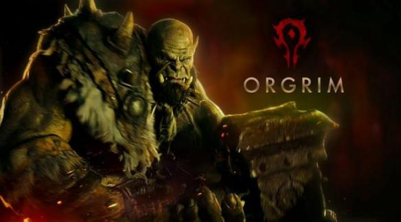 A promotional shot of Orgrim Doomhammer from the Warcraft movie