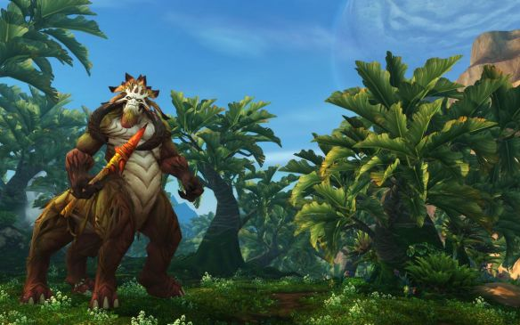 A screenshot of Gorgrond in World of Warcraft: Warlords of Draenor