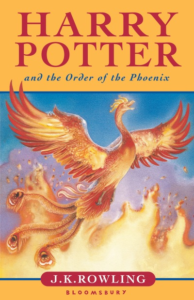 Cover art for the fifth Harry Potter novel