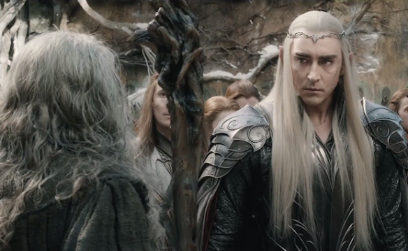 Thranduil and Gandalf in The Hobbit: The Battle of the Five Armies
