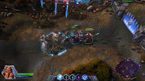 Jaina casting Blizzard in Heroes of the Storm