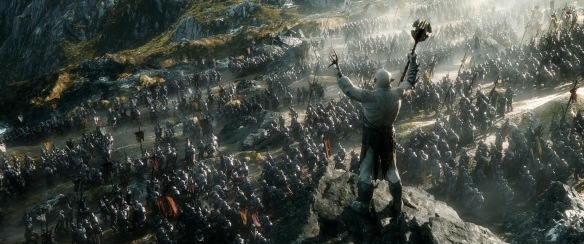 Azog the Defiler commands an army of Orcs in The Hobbit: The Battle of the Five Armies