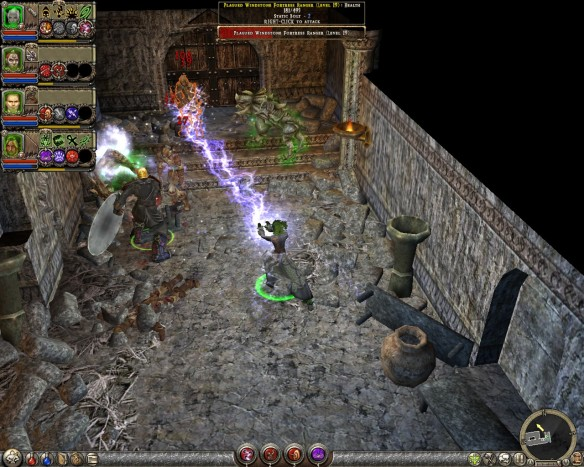 Fighting in Windstone Fortress in Dungeon Siege II