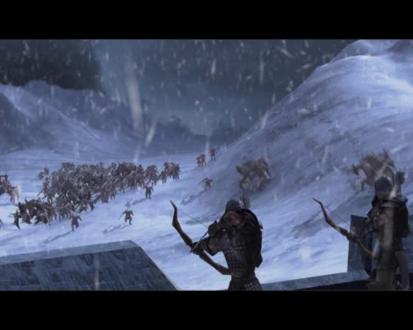 The siege of Snowbrook Haven in Dungeon Siege II