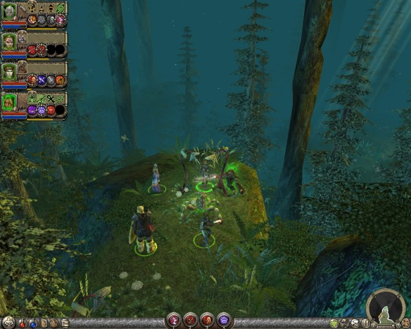 A scenic vista in Vai'lutra Forest in Dungeon Siege II