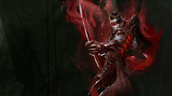 Concept art of the new revenant class for Guild Wars 2: Heart of Thorns