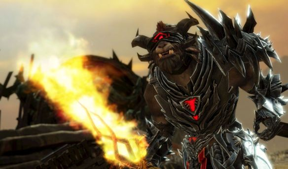 Rytlock Brimstone in his revenant gear in the Guild Wars 2: Heart of Thorns trailer