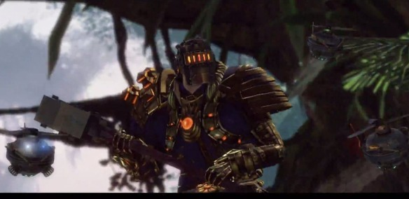 An engineer with a hammer in the Guild Wars 2: Heart of Thorns trailer