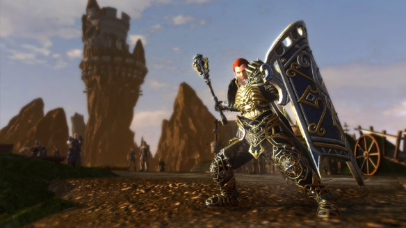 A preview screenshot of Neverwinter's new oathbound paladin class