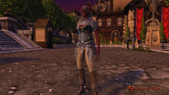 My Tiefling warlock in Neverwinter