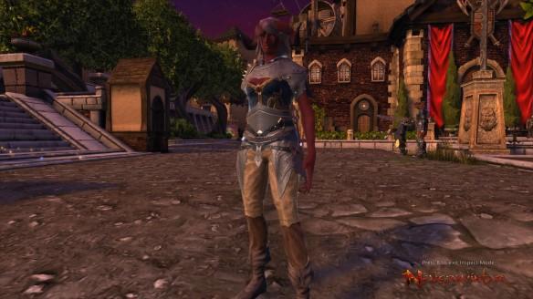 My Tiefling warlock in Neverwinter