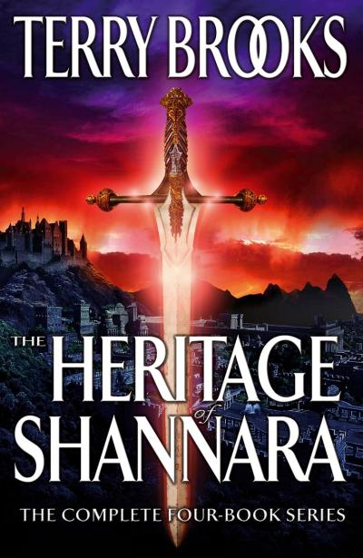 Cover art for a compilation of the Heritage of Shannara series