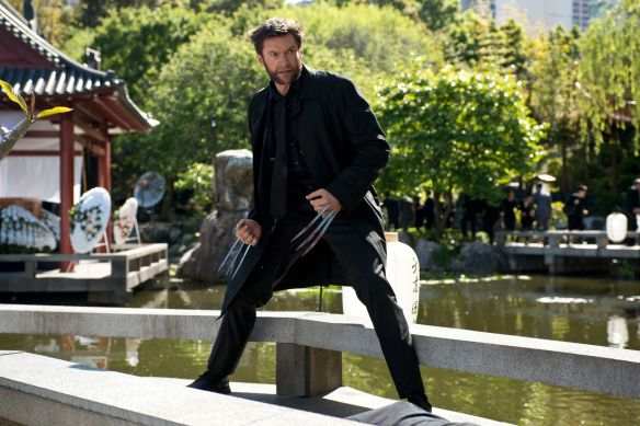 Hugh Jackman as the title character in The Wolverine