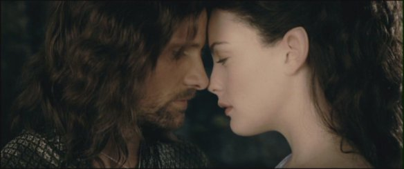 Liv Tyler and Viggo Mortensen as Aragorn and Arwen in the Lord
