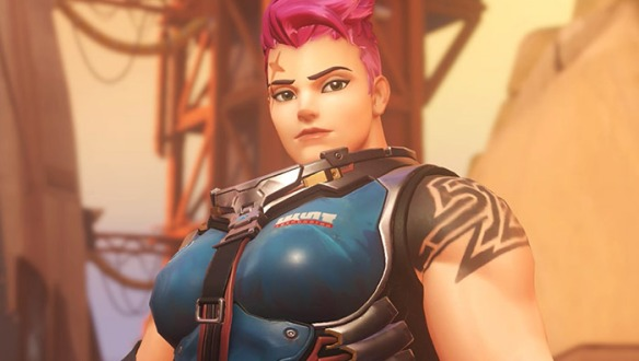 A promotional image of Zarya in Overwatch