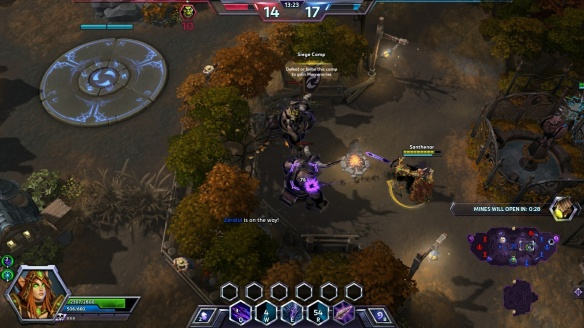 I capture some mercenary camps as Sylvanas Windrunner in Heroes of the Storm