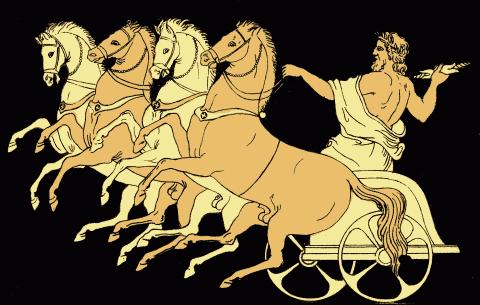 Ancient art of the Greek god Zeus