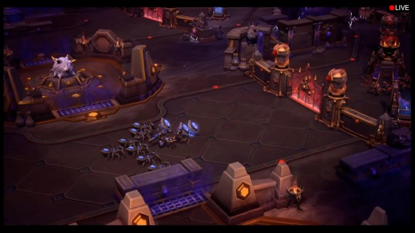 A preview of the Tomb of the Spider Queen map for Heroes of the Storm