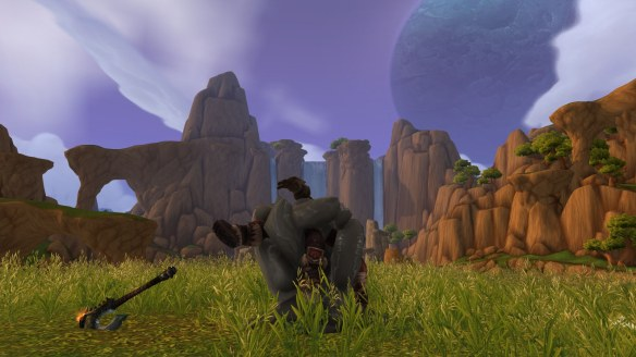 The remains of Garrosh Hellscream in World of Warcraft: Warlords of Draenor