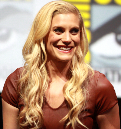A photo of Katee Sackhoff at Comic Con