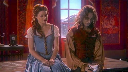 Belle and Rumpelstiltskin in Once Upon a Time