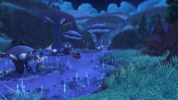 A shot of the Shadowmoon Valley zone in World of Warcraft: Warlords of Draenor