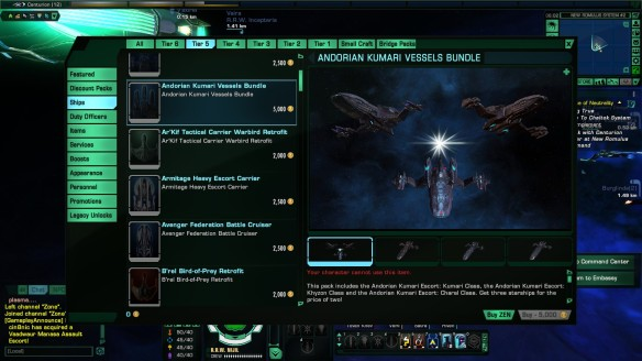 The obnoxious cash shop of Star Trek Online
