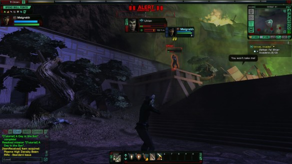 A ground battle in Star Trek Online