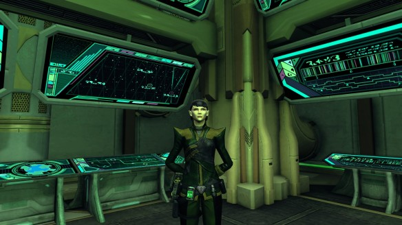 My Romulan commander in Star Trek Online