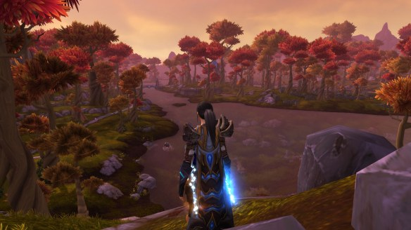 My rogue surveys Talador in World of Warcraft: Warlords of Draenor