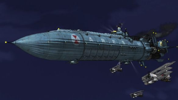 An ARES airship in War of the Worlds: Goliath
