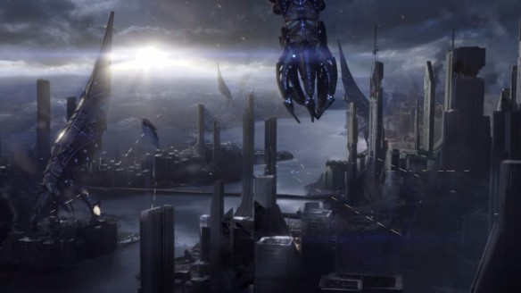 The Reapers descend on Vancouver in Mass Effect 3