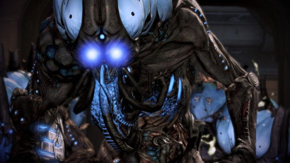 An adjutant monster in Mass Effect 3's Omega DLC