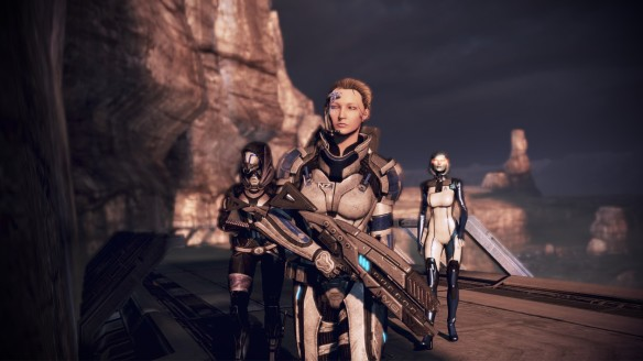 My squad looking badass on Rannoch in Mass Effect 3