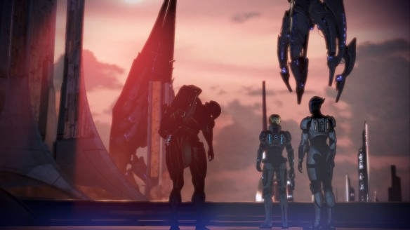 The Reapers take Thessia in Mass Effect 3