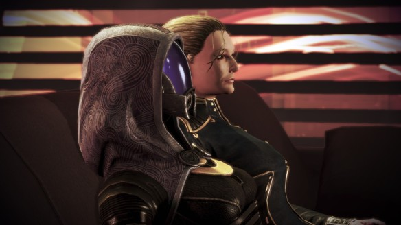 Waching a bad movie with Tali in Mass Effect 3: Citadel