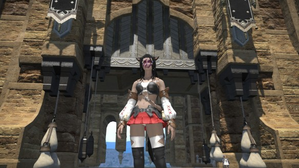 A shameless panty shot in Final Fantasy XIV: A Realm Reborn