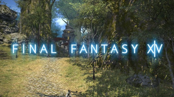The logo for Final Fantasy XIV: A Realm Reborn